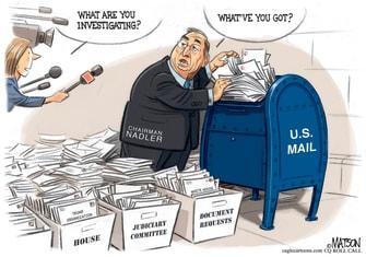 Political Cartoon U.S. Jerrold Nadler Trump House Investigation
