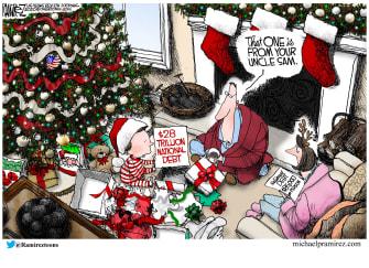 Editorial Cartoon U.S. Federal deficit