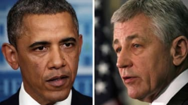 President Obama may have great trust in Sen. Chuck Hagel (R-Neb.), but Republicans sure don't.