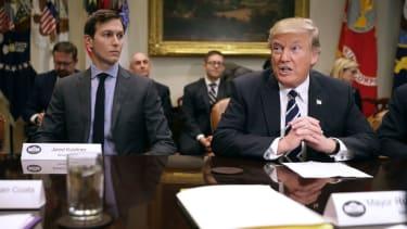 Jared Kushner and President Trump.
