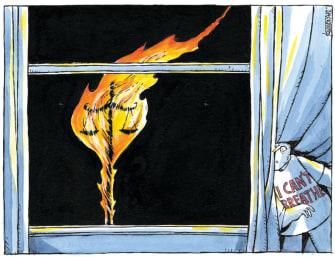 Editorial Cartoon U.S. George Floyd justice I cant breathe