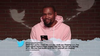 Kevin Durant reads a mean tweet