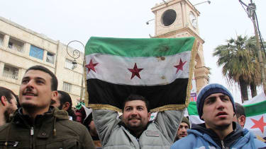 People call for the fall of the regime during the ceasefire.