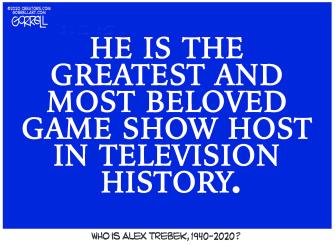 Editorial Cartoon U.S. Alex Trebek Beloved Jeopardy! Host RIP