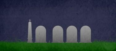 Tombstones.