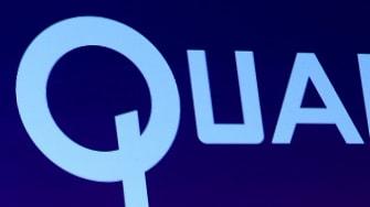 The Qualcomm logo.