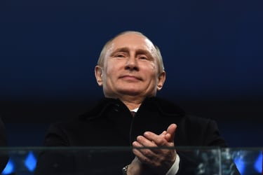Vladimir Putin applauds