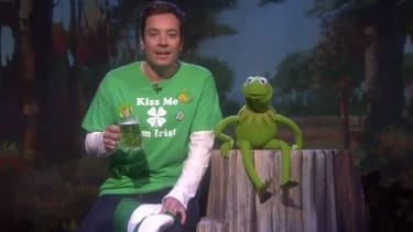 Jimmy Fallon and Kermit the Frog want to wish you a late St. Patrick's Day