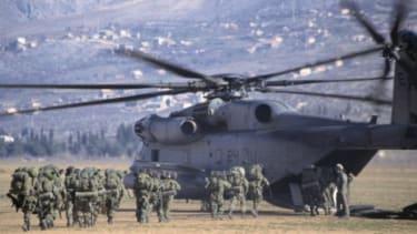U.S. intervention during the Bosnian War.