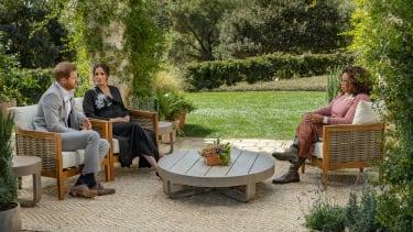 Prince Harry, Meghan Markle, and Oprah.