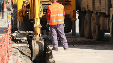 Construction worker wages are falling.