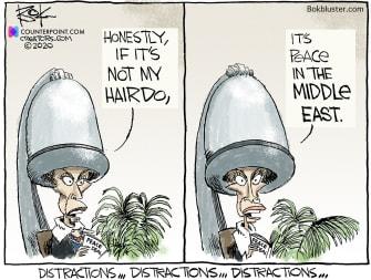 Political Cartoon U.S. Nancy Pelosi salon middle east deal