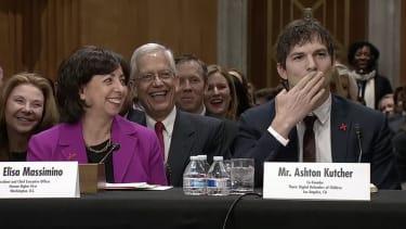 Ashton Kutcher and John McCain.
