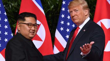 Kim Jong Un and President Trump.