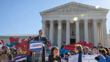 Protesters call for an end to partisan gerrymandering