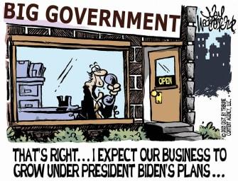 Editorial Cartoon U.S. biden big government