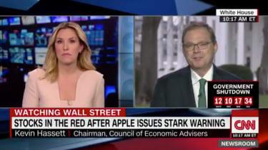 White House Economic Adviser Kevin Hassett on CNN.