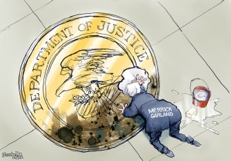 Political Cartoon U.S. merrick garland justice department