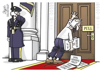 Political Cartoon U.S. biden far side