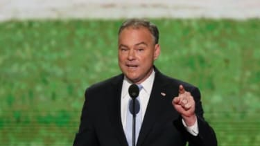 Virginia Senate Candidate Tim Kaine (D) speaks at the Democrat National Convention on Spet. 4