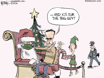 Political Cartoon U.S. Hunter Biden Santa Claus