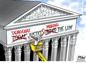 Political Cartoon U.S. democrats supreme court packing