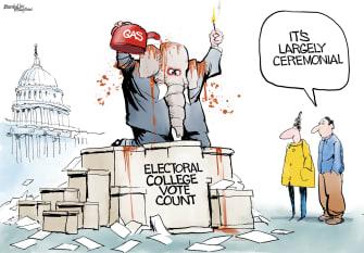 Political Cartoon U.S. GOP electoral college