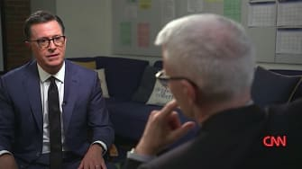 Anderson Cooper and Stephen Colbert talk Trump