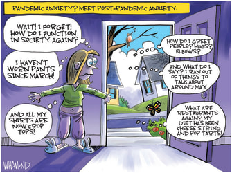 Editorial Cartoon U.S. covid post pandemic anxiety