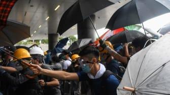 Hong Kong protests.