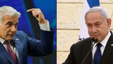 Yair Lapid and Benjamin Netanyahu