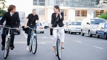 More and more people are biking to work