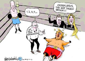 Political Cartoon U.S. Trump Biden Georgia