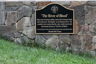 Civil War plaque.