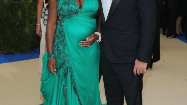 Serena Williams and fiance.