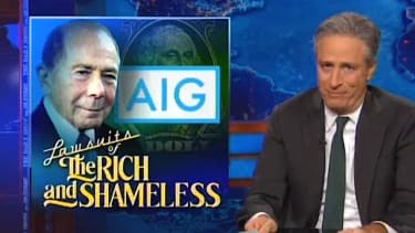 Jon Stewart explains why Hank Greenberg suing the U.S. over AIG is comically despicable