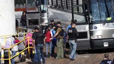 People arrested in an immigration raid in Morton, Mississippi.
