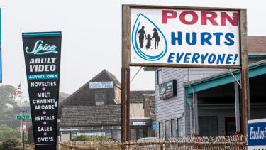 An anti-pornography sign.
