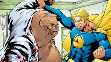 """In the first issue of the comic """"Foreskin Man"""" the presumably uncircumcised hero battles a villain - an image the Anti-Defamation League calls anti-Semitic."""