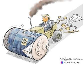 Political Cartoon U.S. Trump Barr DOJ