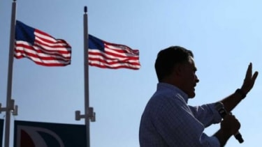 """Mitt Romney speaks at a campaign rally in Florida on Sept. 1: As rioters stormed U.S. embassies in the Mideast on Sept. 11, the Romney campaign said """"it's disgraceful that the Obama administr"""