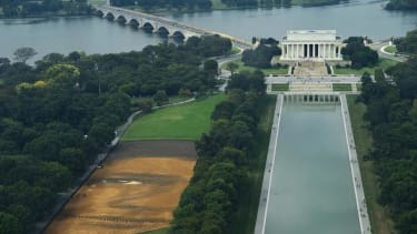 There's a giant face on Washington's National Mall