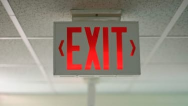 Exit: It goes out.