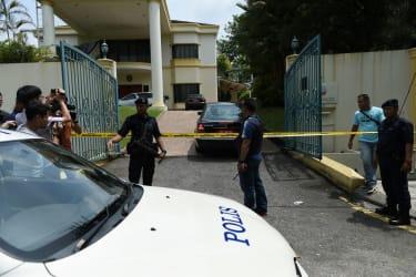 Malaysian police guard North Korea's embassy in Kuala Lampur
