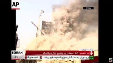 A Tehran high-rise collapses