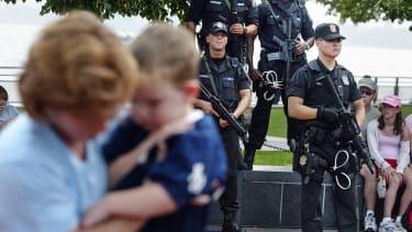 U.S. Swat police in New York City.