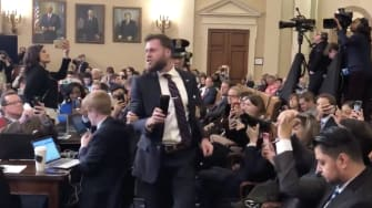 impeachment Hearing Protester.