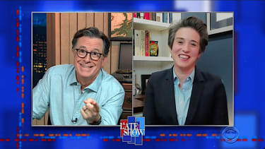 Amy Walter and Stephen Colbert