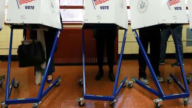 Voters in New York City.