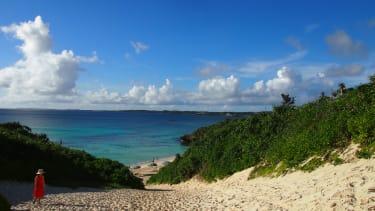 A beach in Okinawa, Japan